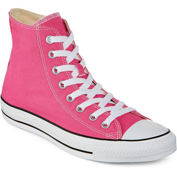 eafb3a5073121c Converse Chuck Taylor All Star Womens High-Top Pink Paper Sneakers ( 55) ❤  liked on Polyvore featuring shoes