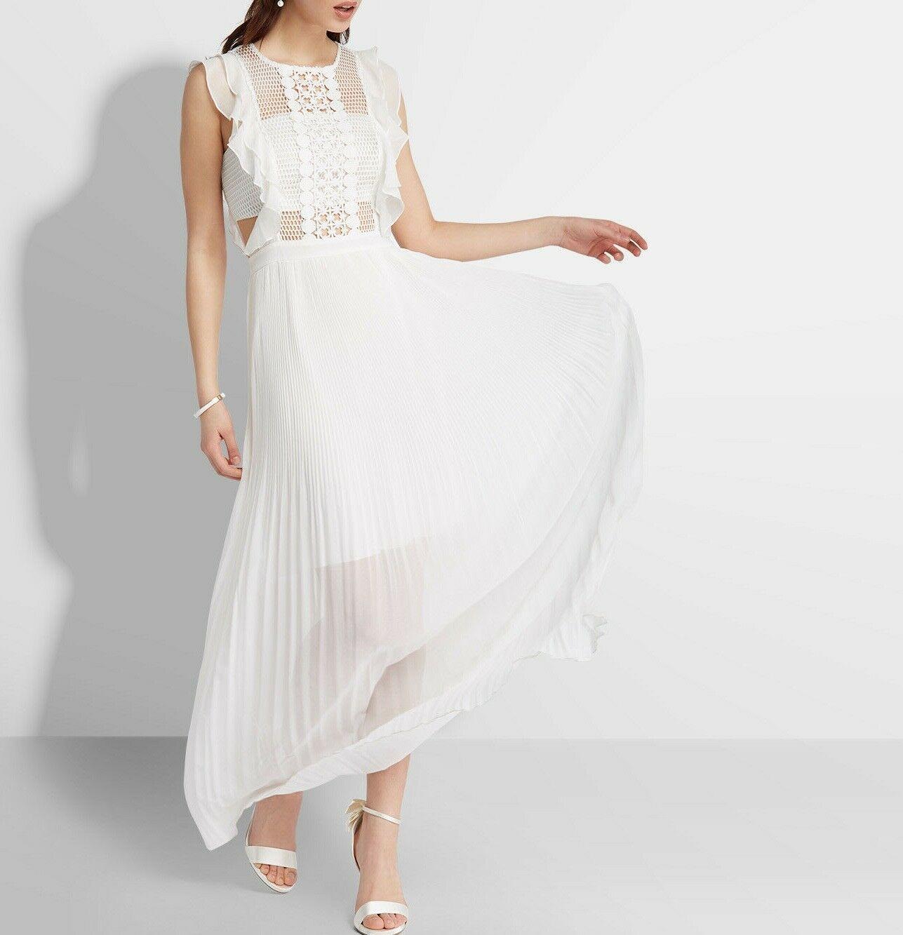 Details zu APART Plisseekleid Abendkleid Maxikleid Damen Hochzeit