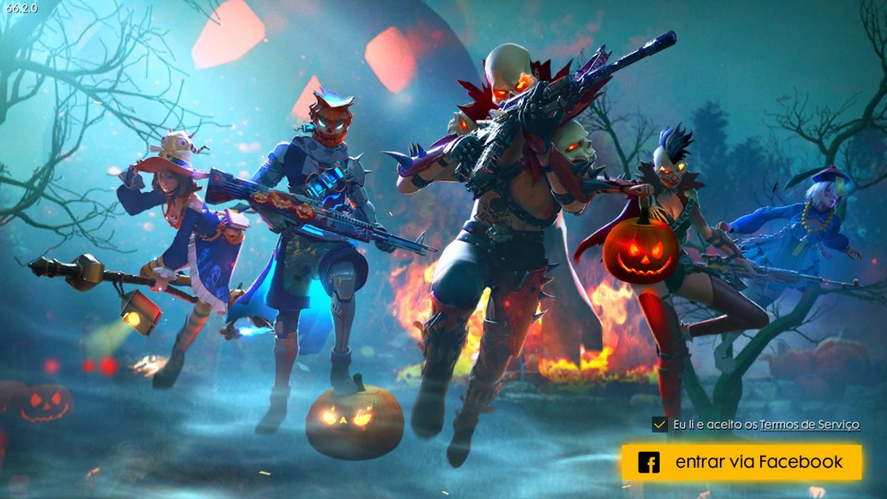 Nova Tela de Login da Atualização de Halloween do Free Fire - Free Fire  News | Free, Halloween, Atualizações