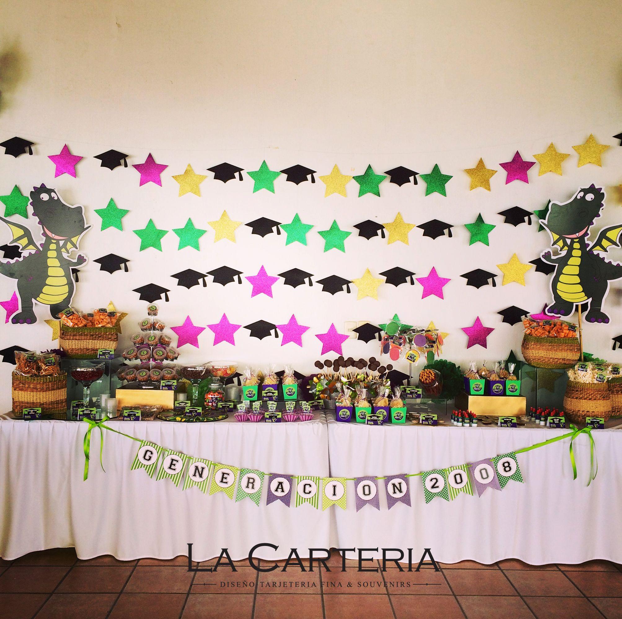 Candybar Decoración Preescolar Graduación Colegio Alexander Bain