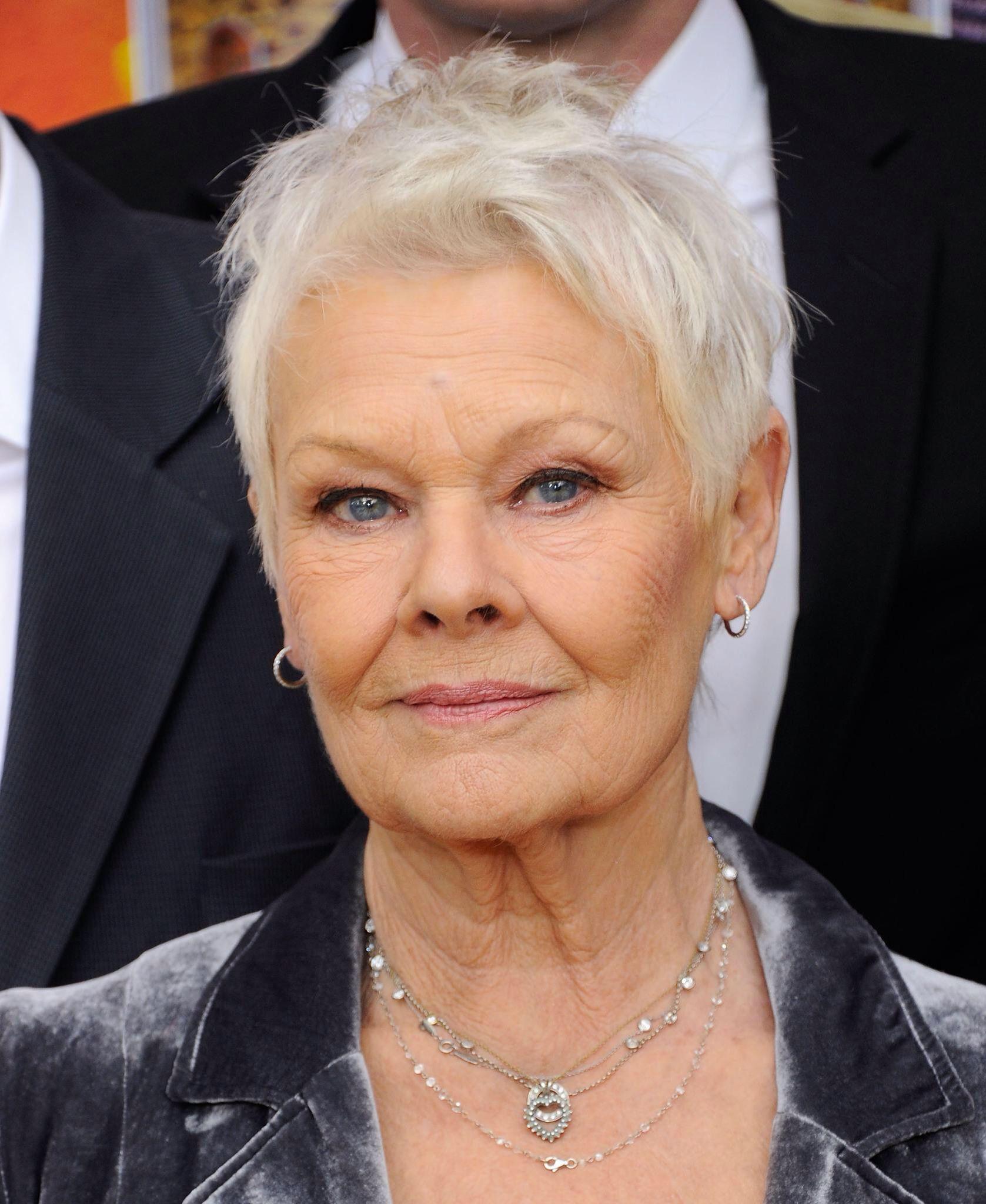 dame judi dench | judi dench in 2019 | short grey hair