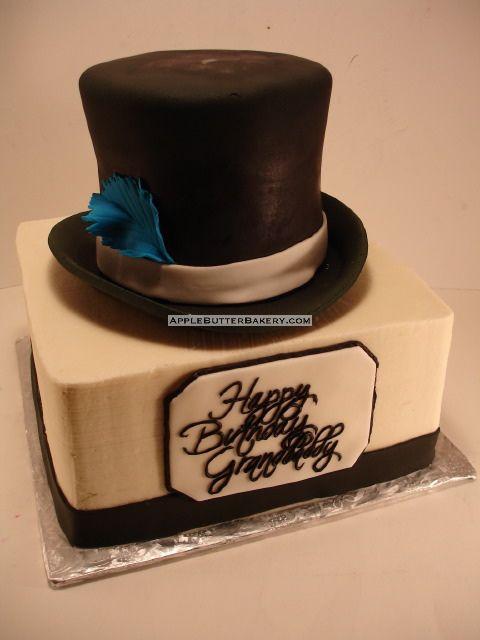 Remarkable Top Hat Cake Hat Cake Personalised Birthday Cards Sponlily Jamesorg