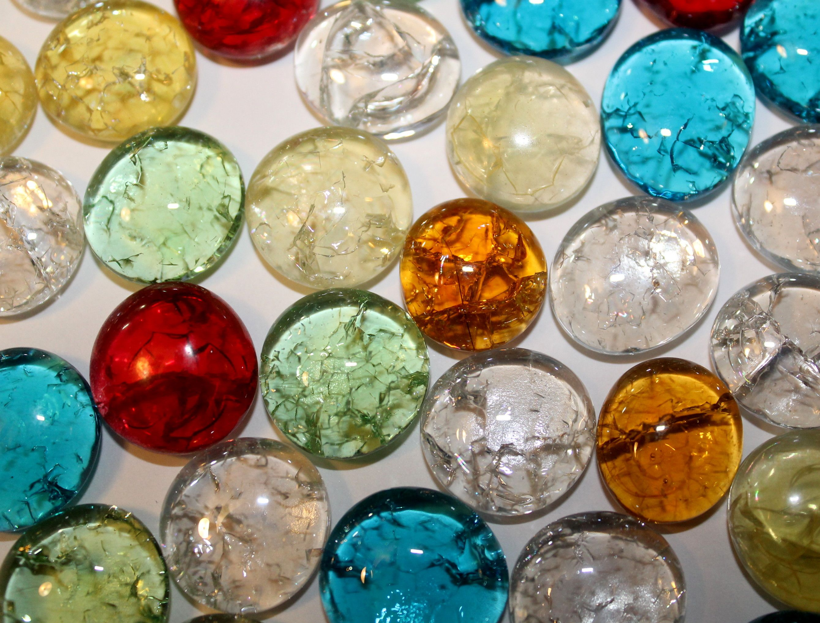Snap, Crackle, Pop Cracked Glass Gems! Glass, Clay bowl