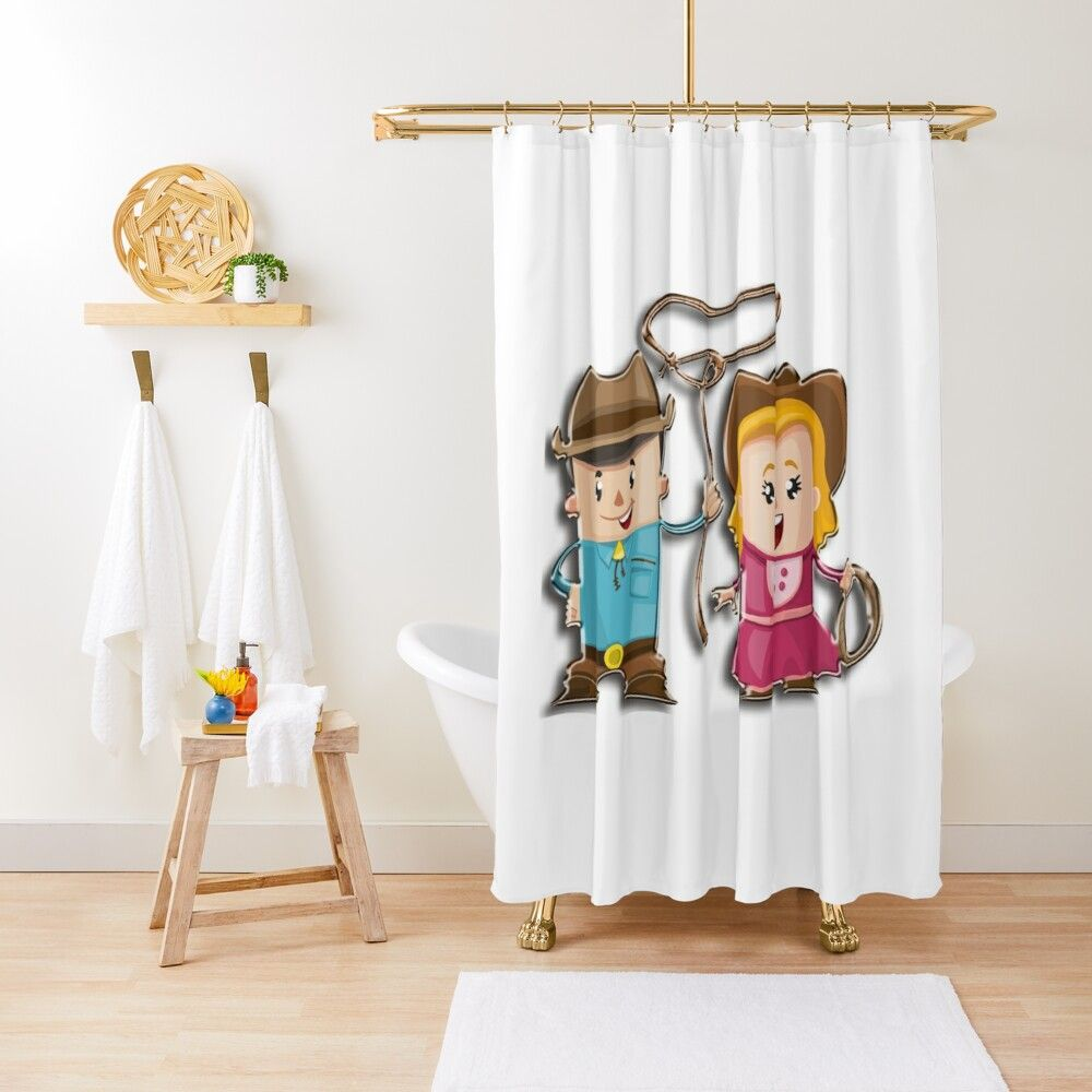 Cowboy T Shirts For Kids And Babies Shower Curtain Designer