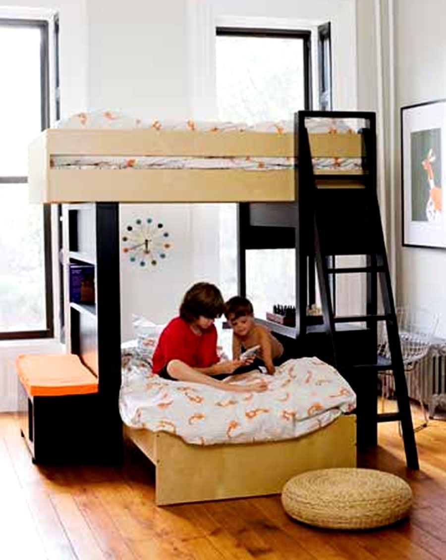 Modern Kids Bedroom Home Furniture Design Uffizi Bunk Bed Argington ...