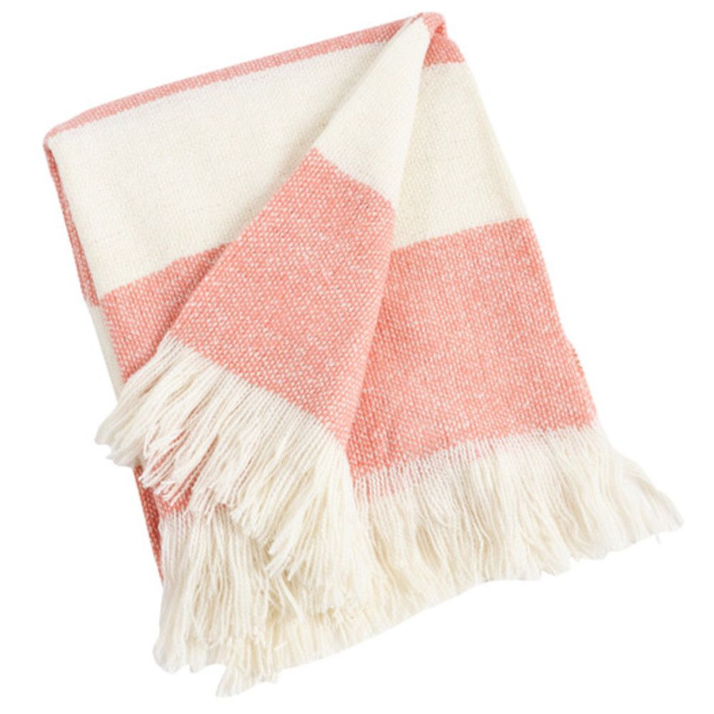 striped coral throw blanket  by lux  pastle  pinterest  - striped coral throw blanket  by lux
