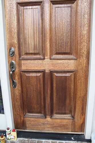 Polishing Off The Old Front Door Unskinny Boppy Wood Front Doors Wood Exterior Door Old Wood Doors