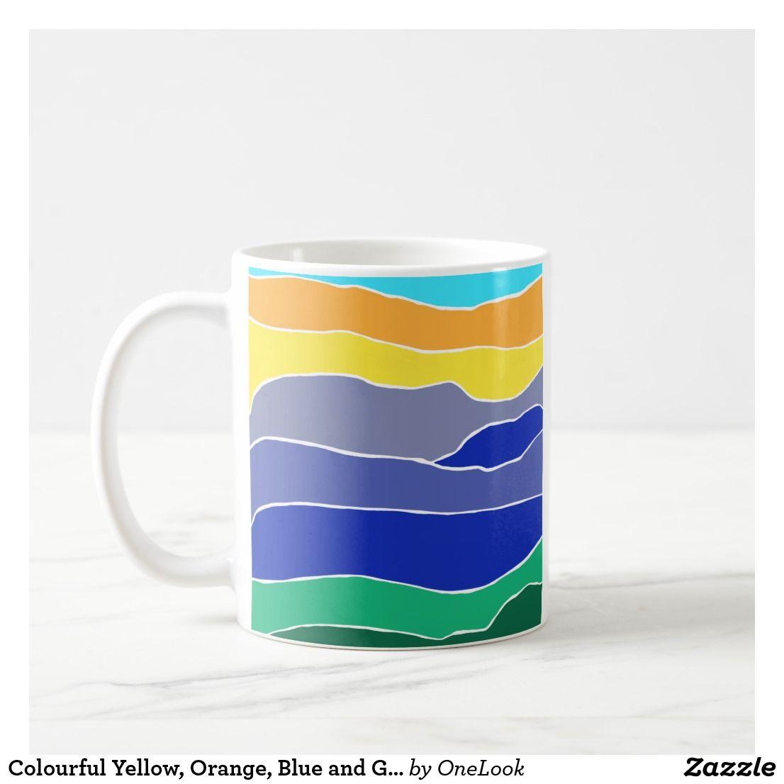 Sentimental Wedding Gift Ideas: Colourful Yellow, Orange, Blue And Green Stripes