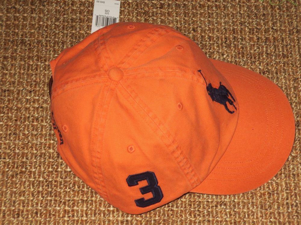862e8ab0dfa POLO RALPH LAUREN MEN S BASEBALL CAP BIG PONY RESORT ORANGE NEW   PoloRalphLauren  BaseballCap