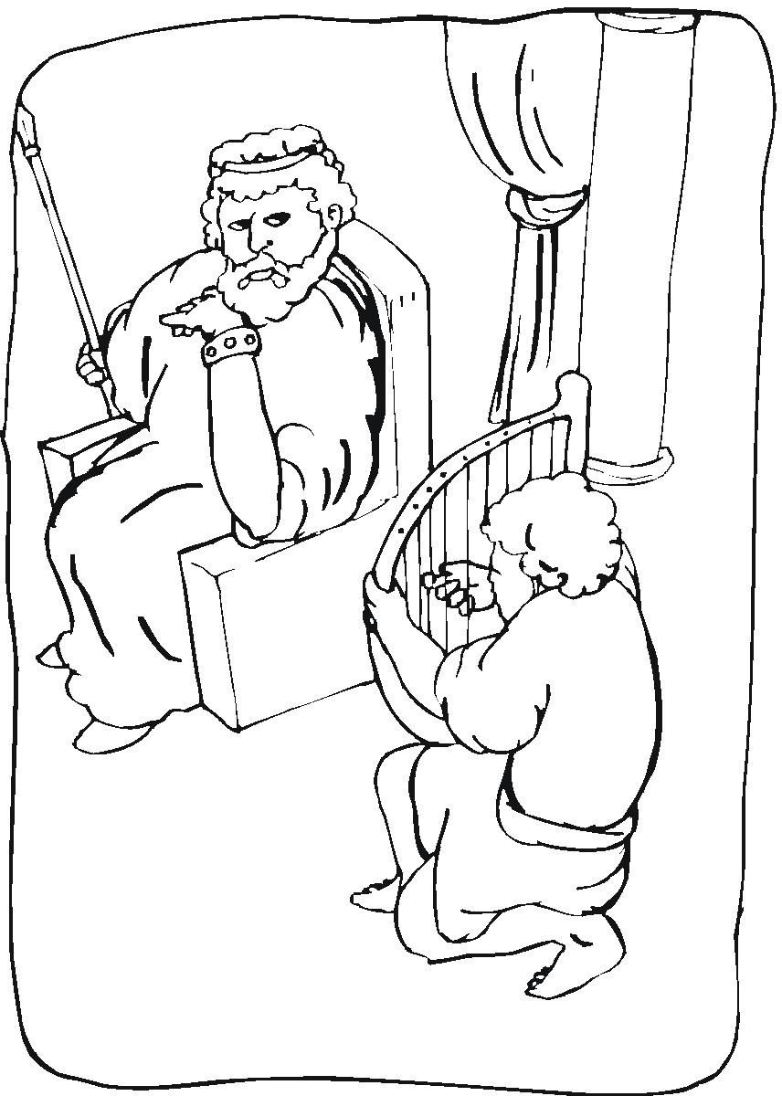 free coloring pages of david spares saul sketch coloring