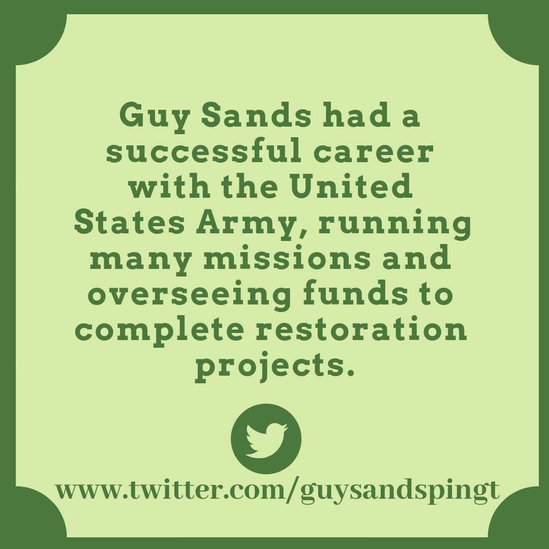 Guy Sands had a very successful career in the United