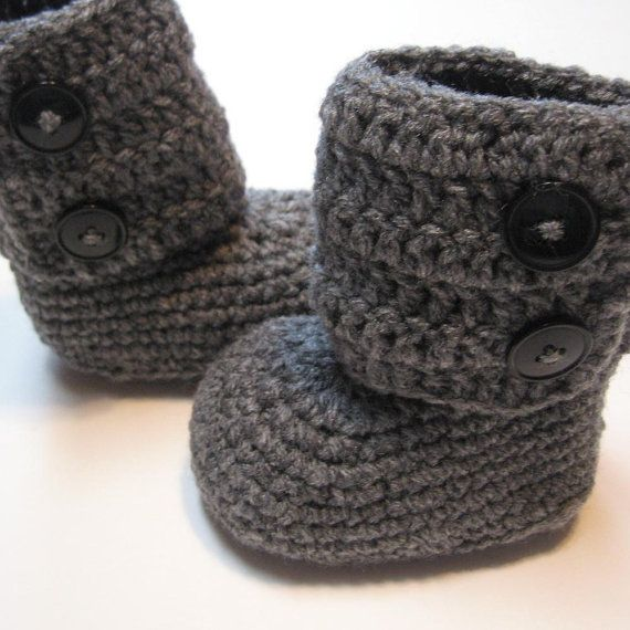 Crochet toddler ankle boots Ugg style Made by ThoughtfulStitches ...