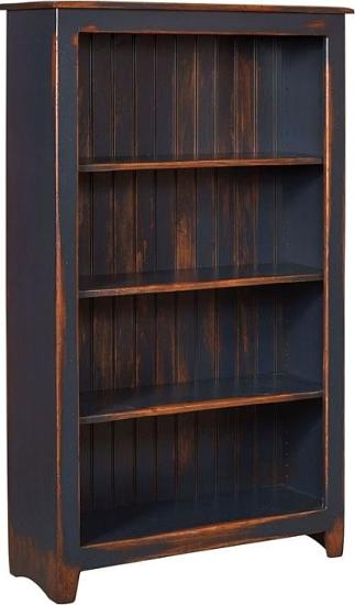 Cornelia Bookcase Navy Distress Antique Furniture Furnishings Pine Bookcase Country Furniture Chelsea Home Furniture