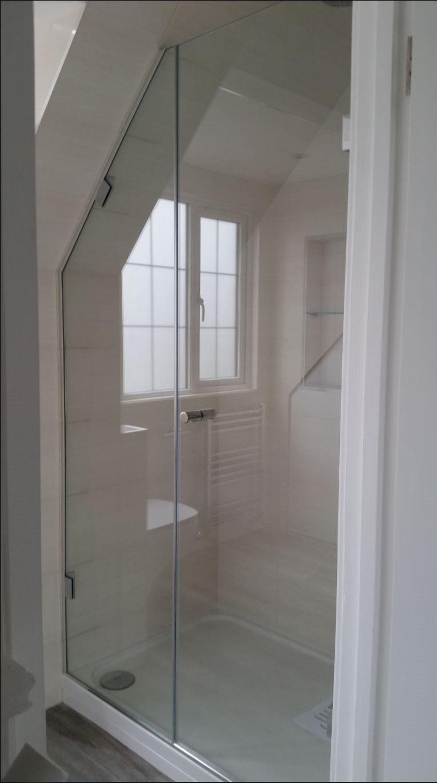 Gallium 03 Door + Inline Panel Bespoke Frameless Shower Screen