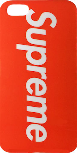 Supreme Red White Logo Soft Rubber iPhone 6/6s + Plus Case