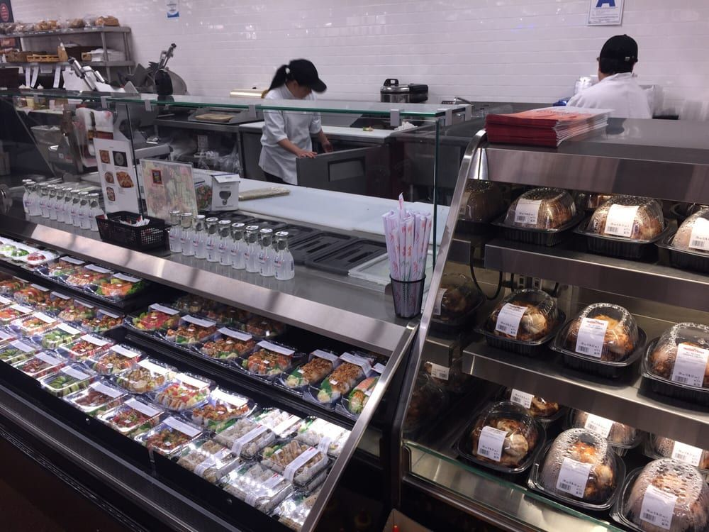 Frazier Farms Market - Oceanside, CA, United States. Sushi and roasted chicken…