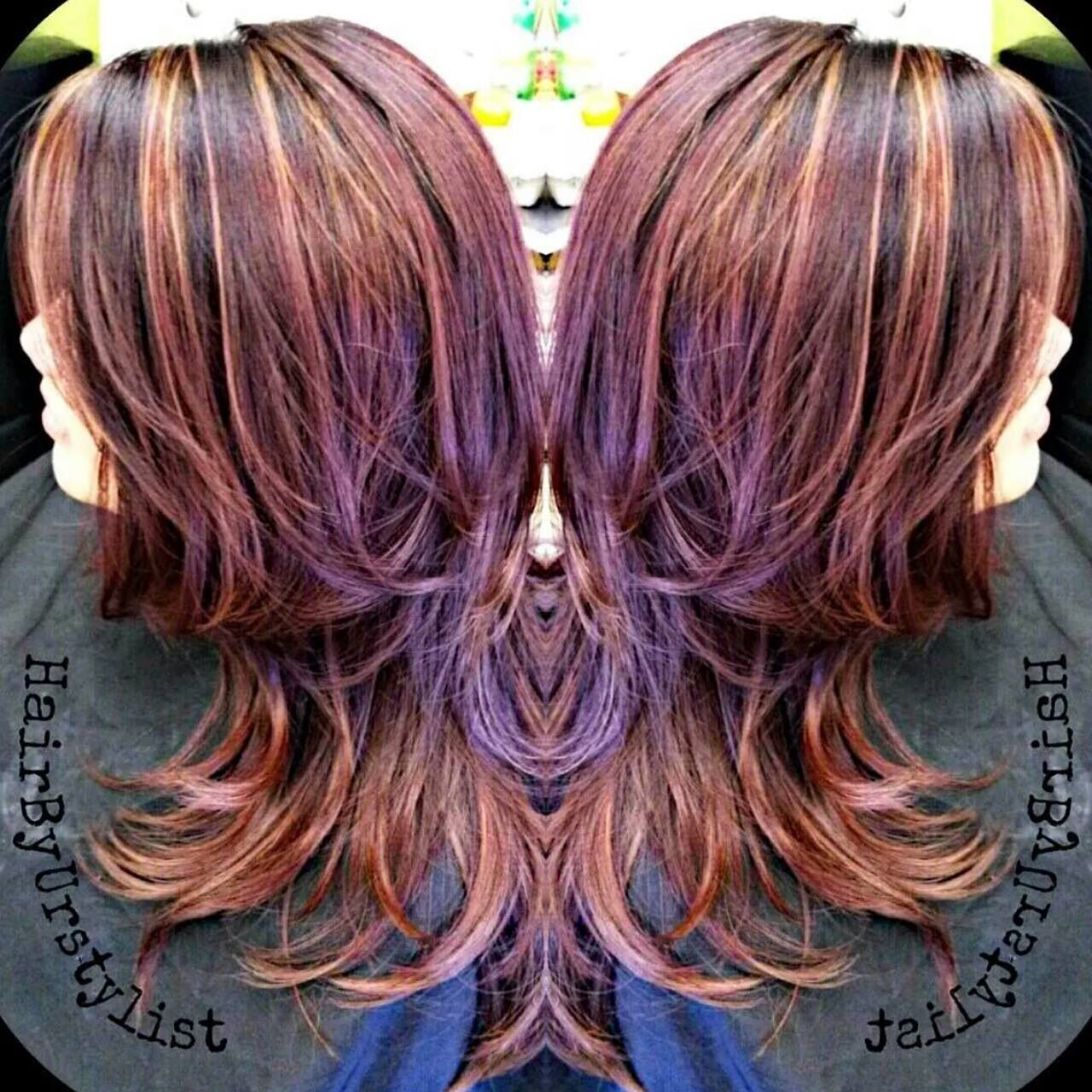 short layers with red, brown, copper and highlights. see more of