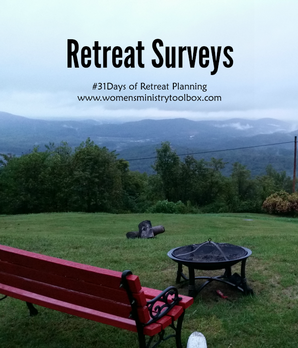 Day   Retreat Surveys  Sample Survey Toolbox And Ministry Ideas