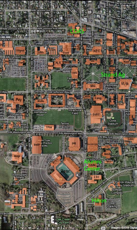 U Of Oregon Map.Oregon State University O S U Pinterest