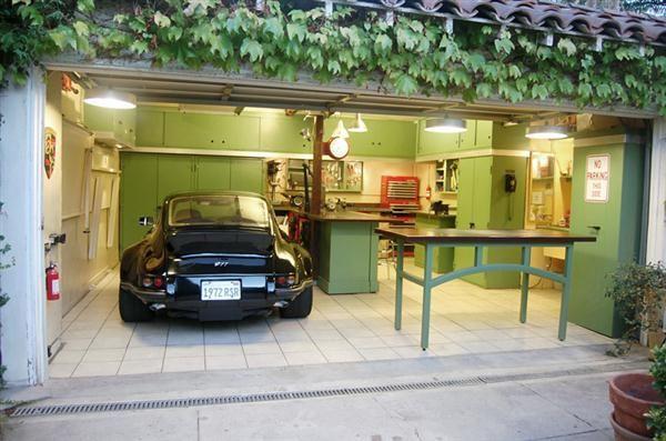 DIY Garage Storage Cabinet Design Green