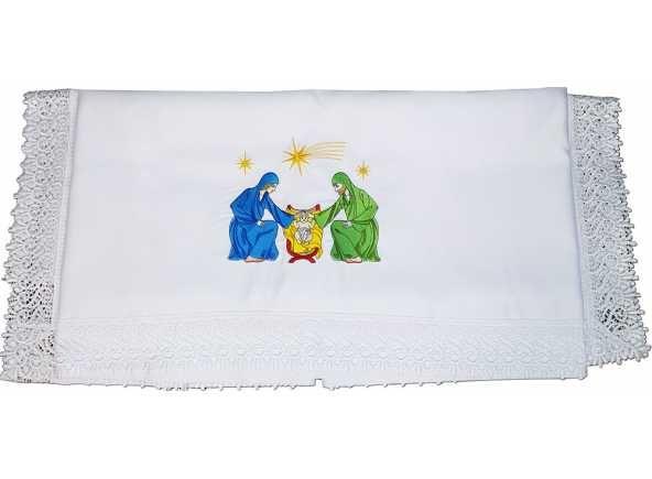 Art culos religiosos navidad mantel para altar bordado - Manteles para navidad ...
