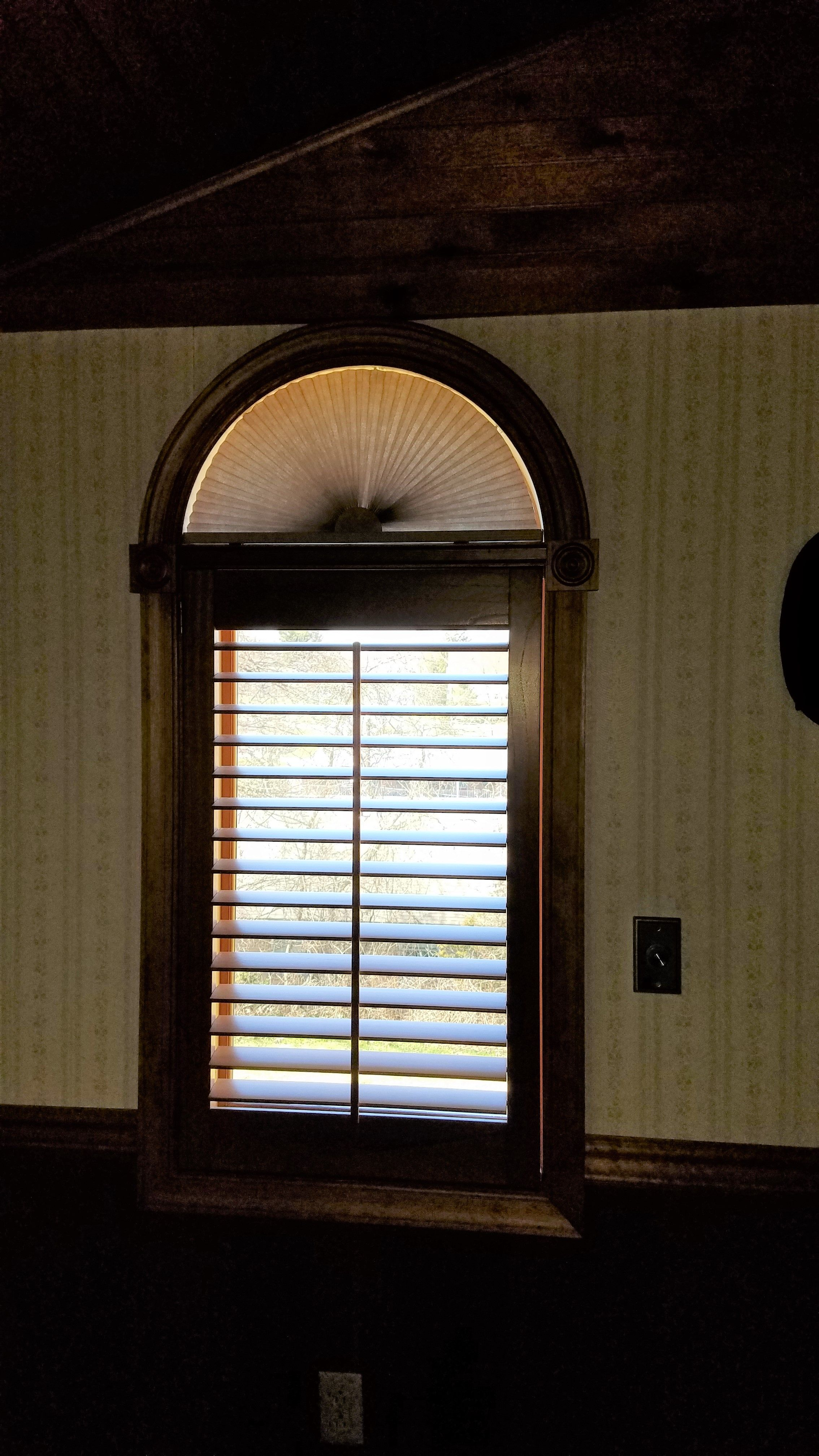 Eyebrow window coverings  pin by budget blinds north bethlehem on blinds  pinterest