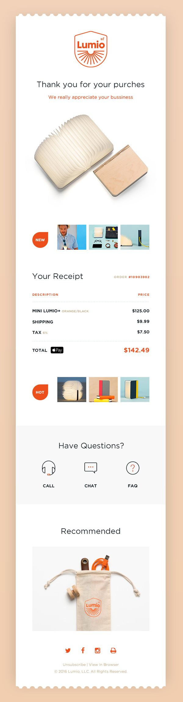 Free Email Receipt Psd Ui Template Design Tools Creative