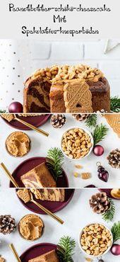 Peanutbutter-schoko-cheesecake Mit Spekulatius-knusperboden – #mit #Peanutbutter…