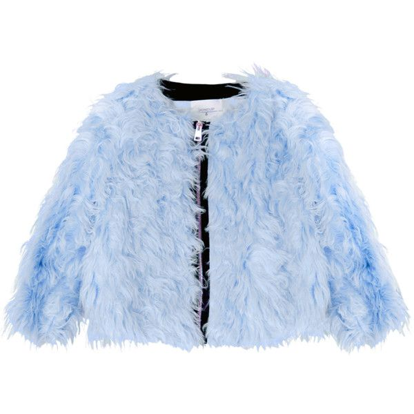 Light Blue Faux Fur Bomber Jacket 2 340 Pen Liked On Polyvore Featuring Outerwear Jackets Blouson Jacket Zip Bomber Jacket Bomber Style Jacket Blue Zip