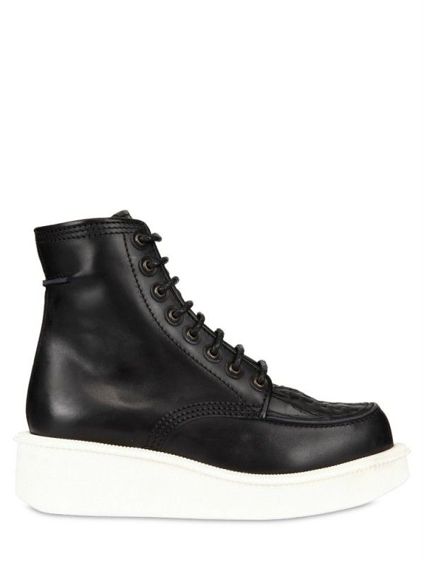 Givenchy Calfskin Platform Low Boots in Black for Men | Lyst