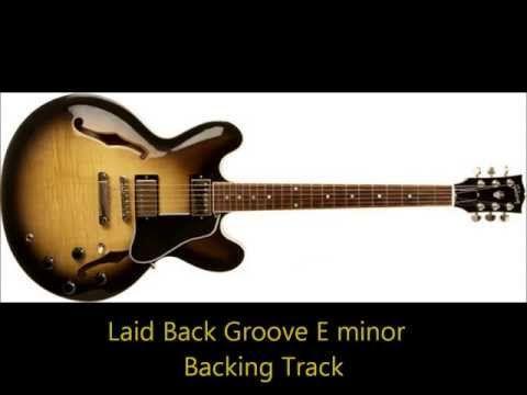 ▷ Guitar backing track, E Minor | Coffee Break Grooves