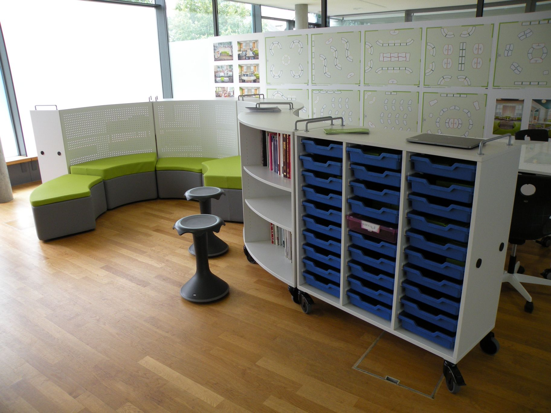 Modular Classroom Seating ~ Vs cultural shift classroom curved mobile storage and