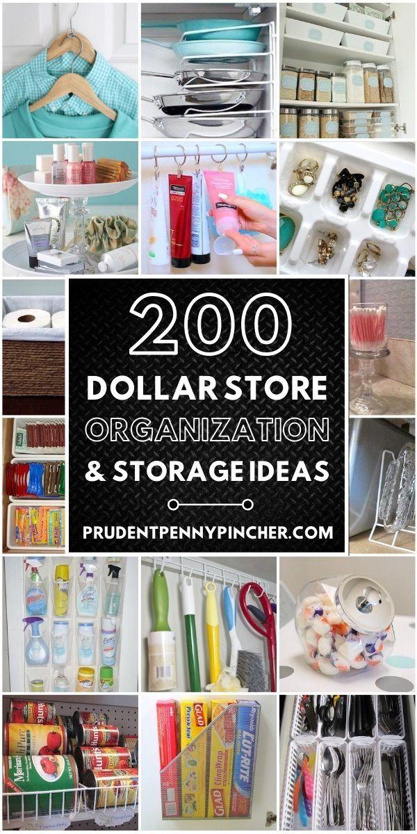 Photo of 200 DIY Dollar Store Organization Ideas #closetorganizationideas Get organized f…