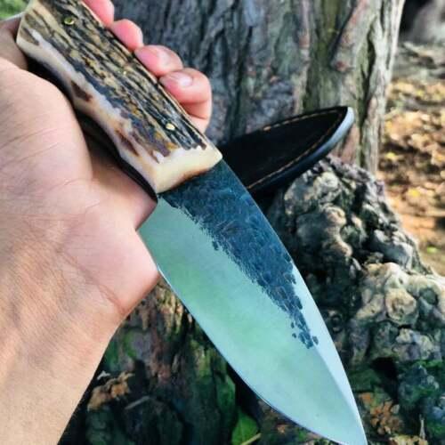 Custom Handmade Hand Forged 1095 Steel Hunting Skinning Knife In 2020 Skinning Knife 1095 Steel Knife