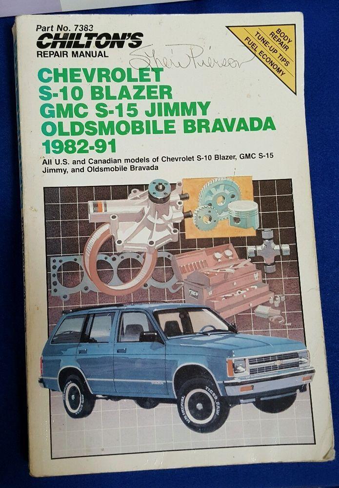 chilton s repair manual chevy s 10 blazer gmc s 15 jimmy olds rh pinterest com 1991 GMC Jimmy Specs 91 GMC Jimmy 4x4