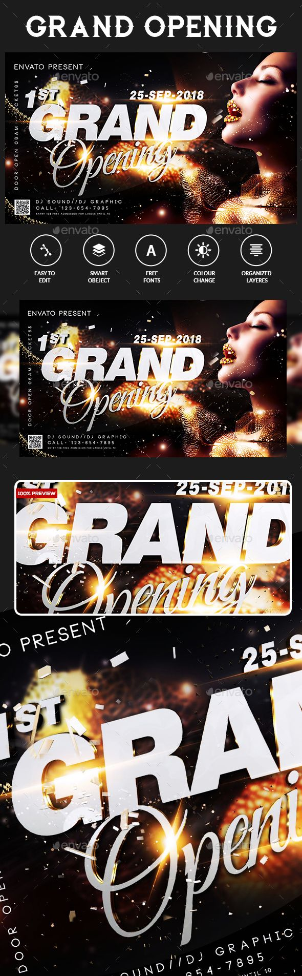 Grand Opening Flyer  Flyer Template Template And Party Flyer
