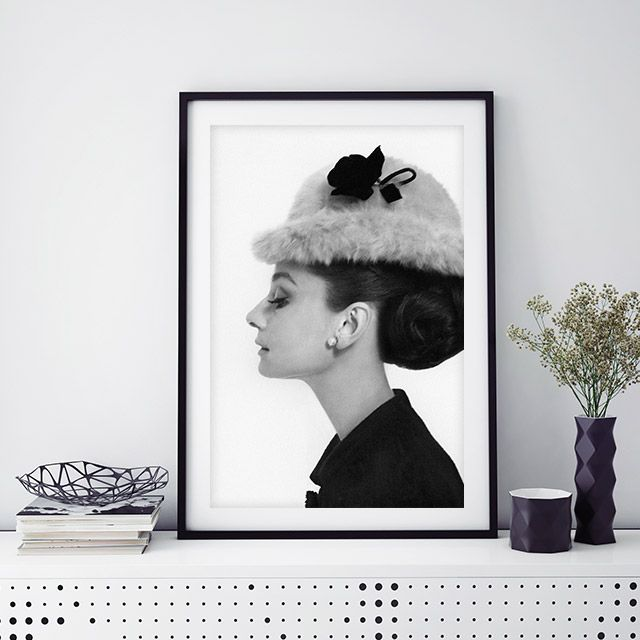 75011e946496a The stunning Audrey Hepburn wearing an Edwardian bowler hat of brushed  Melusine by Givenchy. Photo by Cecil Beaton from the Condé Nast Collection.