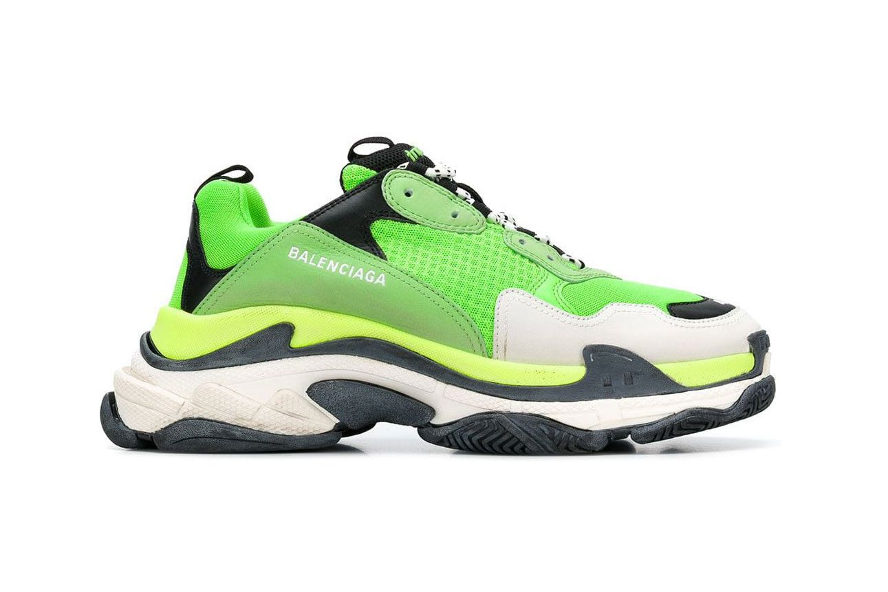 a5e561cdadc The Balenciaga Triple-S Trainer Now Comes in Lime Green and Black ...