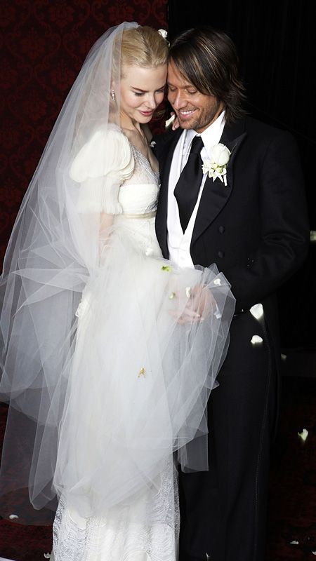 The Best Dressed Celebrity Brides of All Time | Nicole kidman, Keith ...