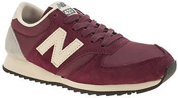 new balance red 420 suede trainers