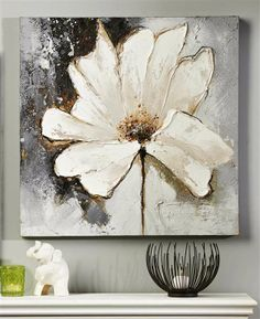 Giftcraft white flower oil painting on canvas flores pinterest giftcraft white flower oil painting on canvas mightylinksfo