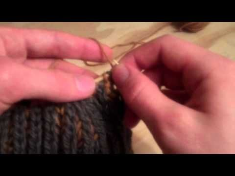 Knitting Ribbing With Two Colors : Diy how to knit two color brioche syncopated ribbing