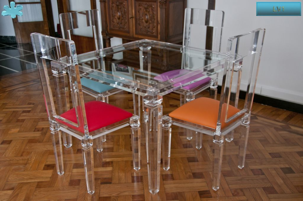 Lucite acrylic dining table tavoli pranzo in plexiglas for Tavolo trasparente