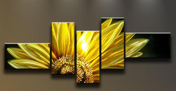 Metal Wall Art Modern Abstract Wall Decor Large Sculpture Flower ...