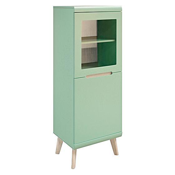 Jazz Mint Small 2 Door Display Cabinet by Interstil furniture - küchen hängeschränke ikea