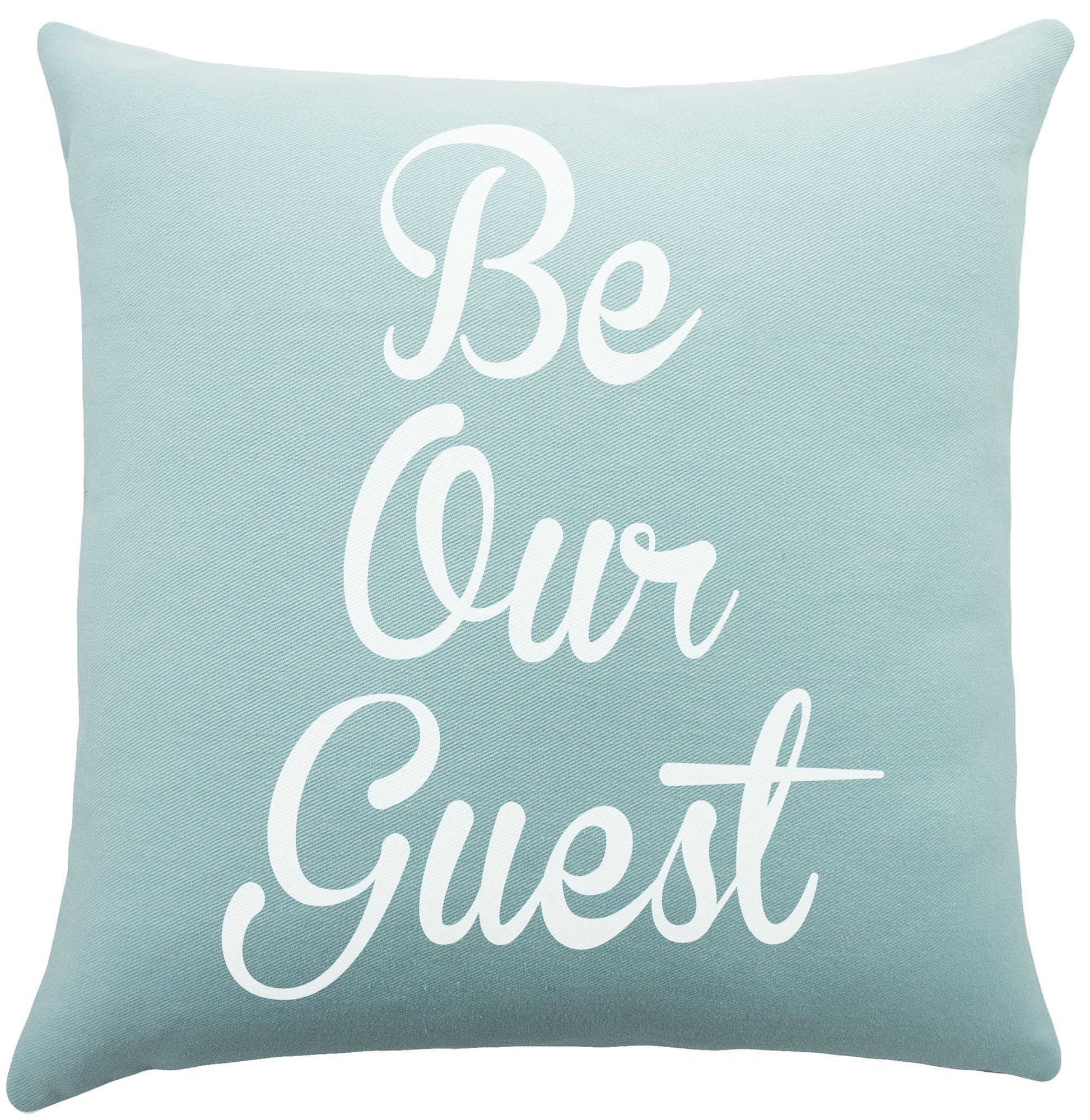 Be Our Guest Cotton Throw Pillow