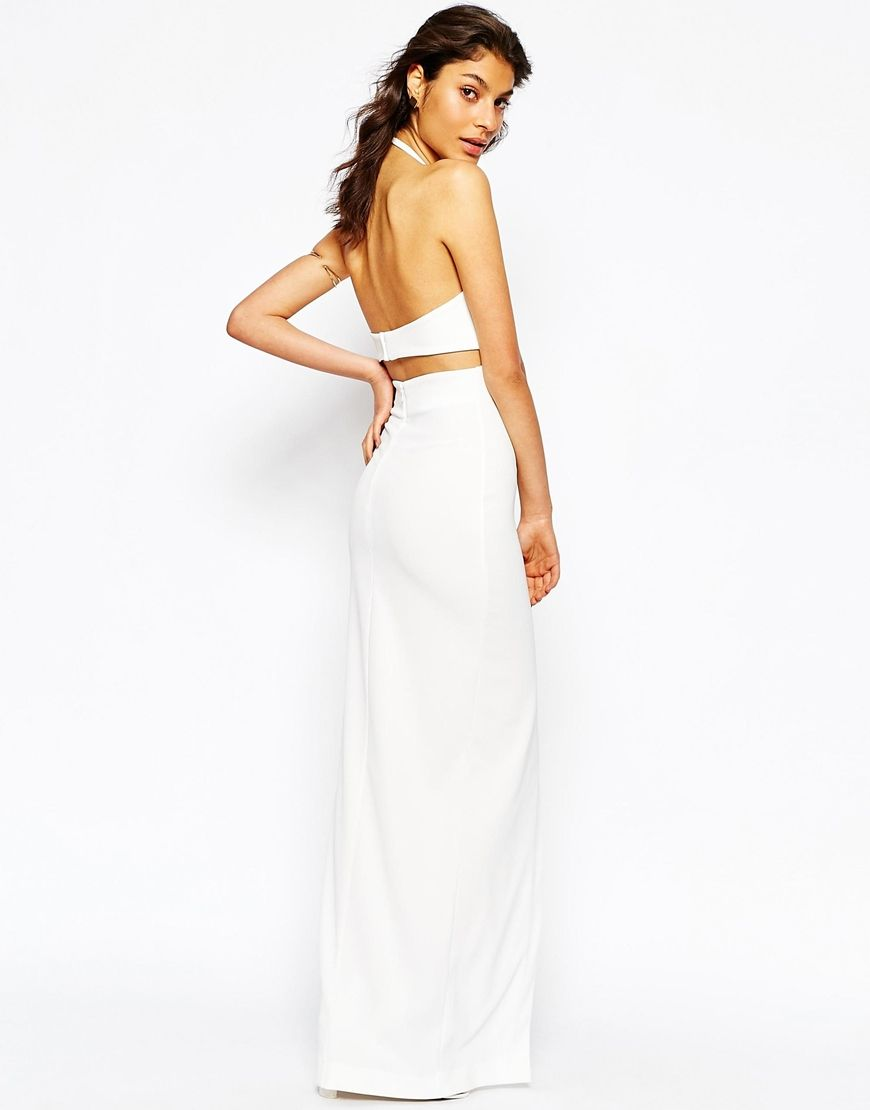Image 2 of Solace London Pam Maxi Dress With High Neck And Cut Out ...