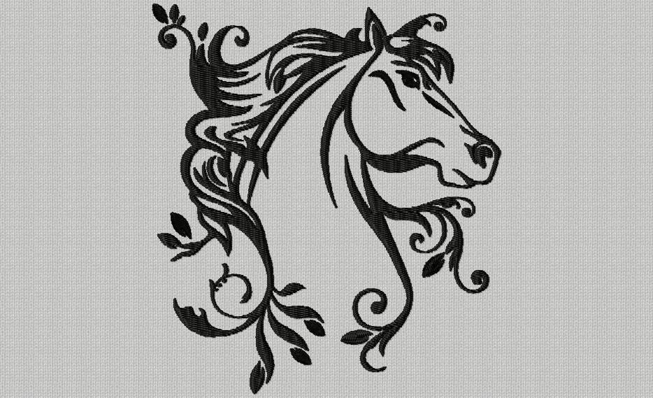 Une t te de cheval broderie machine pinterest t te de cheval tete de cheval dessin et - Tete de cheval dessin ...
