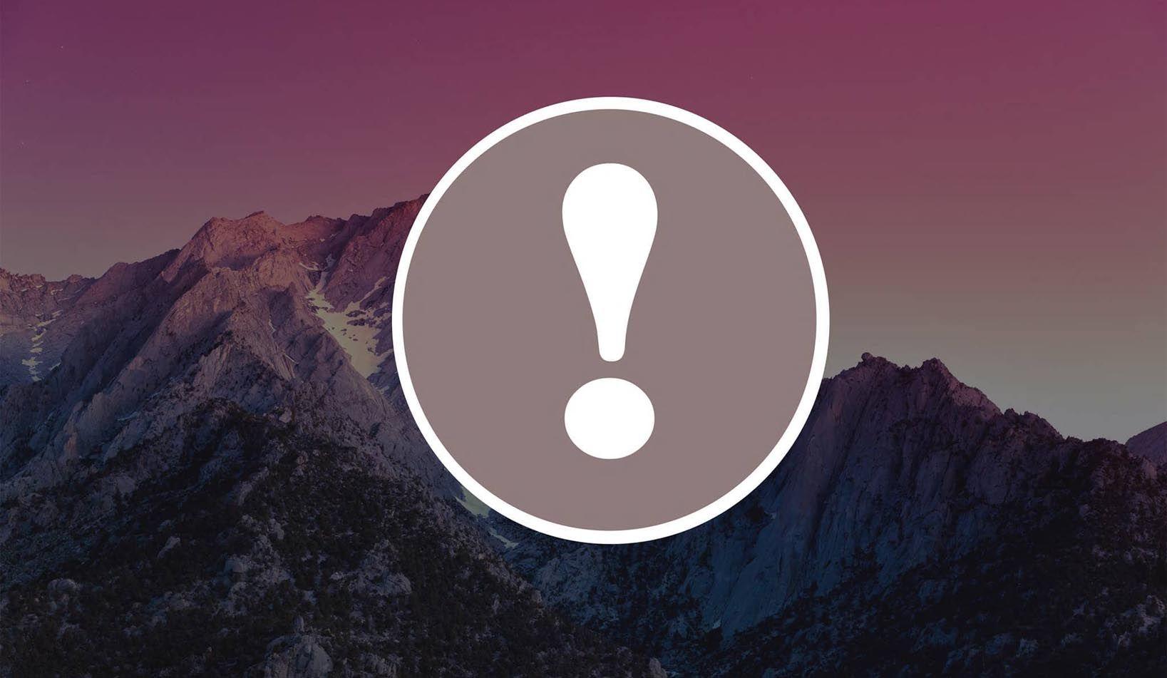 حل مشكلة علامة التعجب على الصور في الايفون والايباد Exclamation Mark Retail Logos Blurry