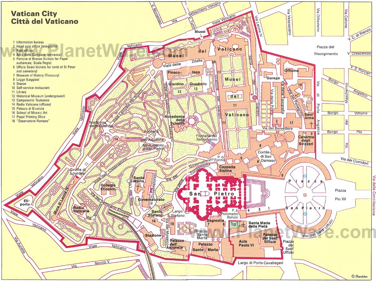 Aerial Map of Vatican City This isnt quite the whole thing but it
